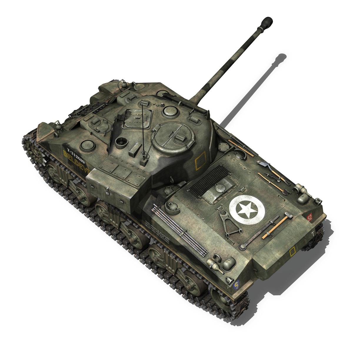 Sherman MK VC Firefly - Beldevere 3d model  266021