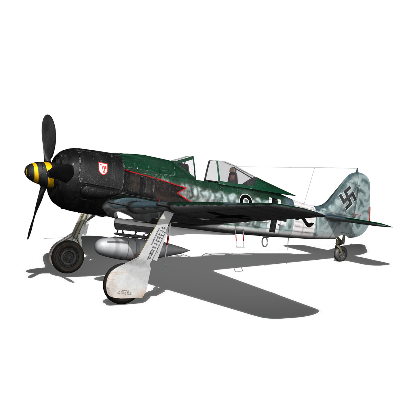 focke wulf – fw190 a8 – black 8 3d model 3ds c4d fbx lwo lw lws obj 266060