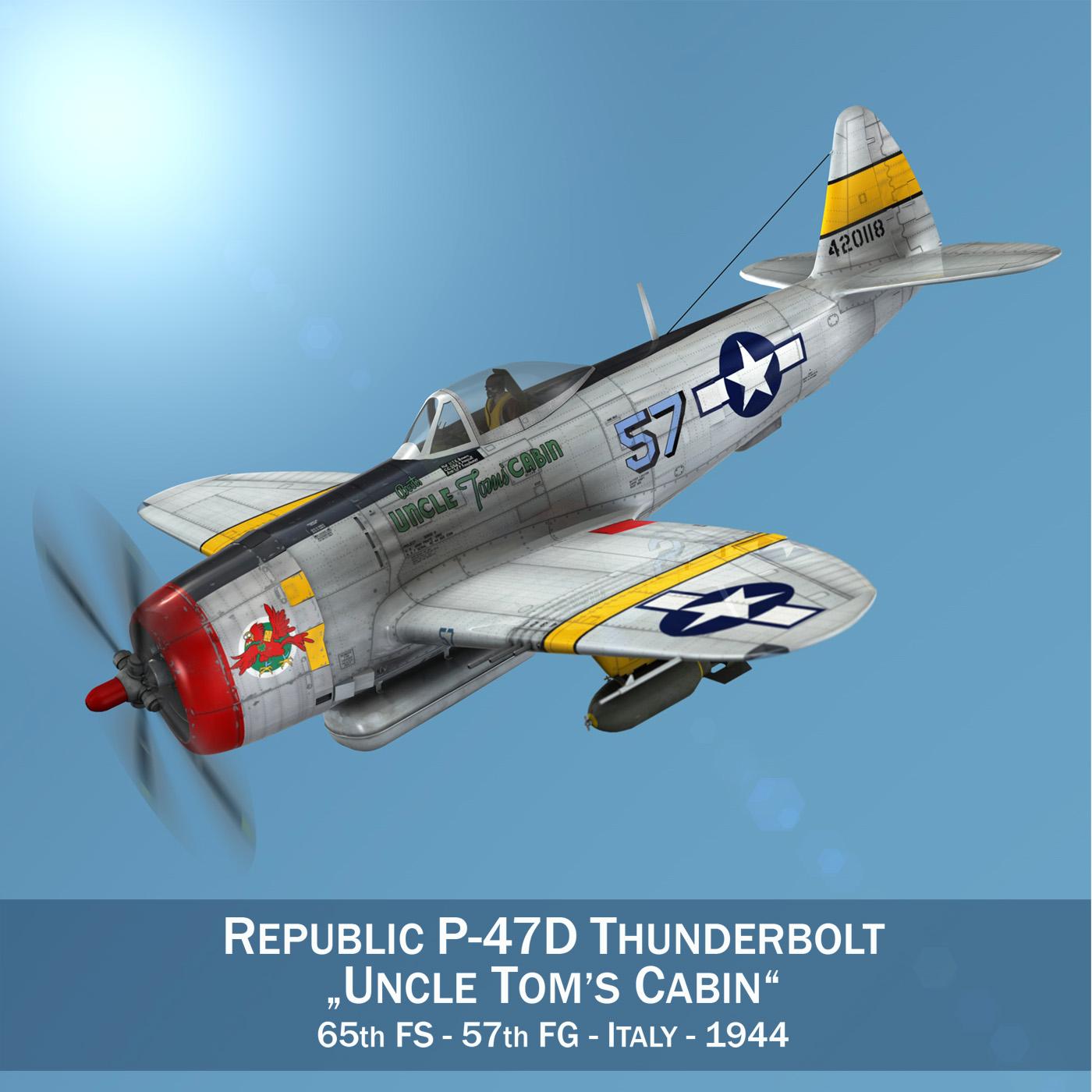 republic p-47d thunderbolt – uncle toms cabin 3d model 3ds c4d fbx lwo lw lws obj 266145