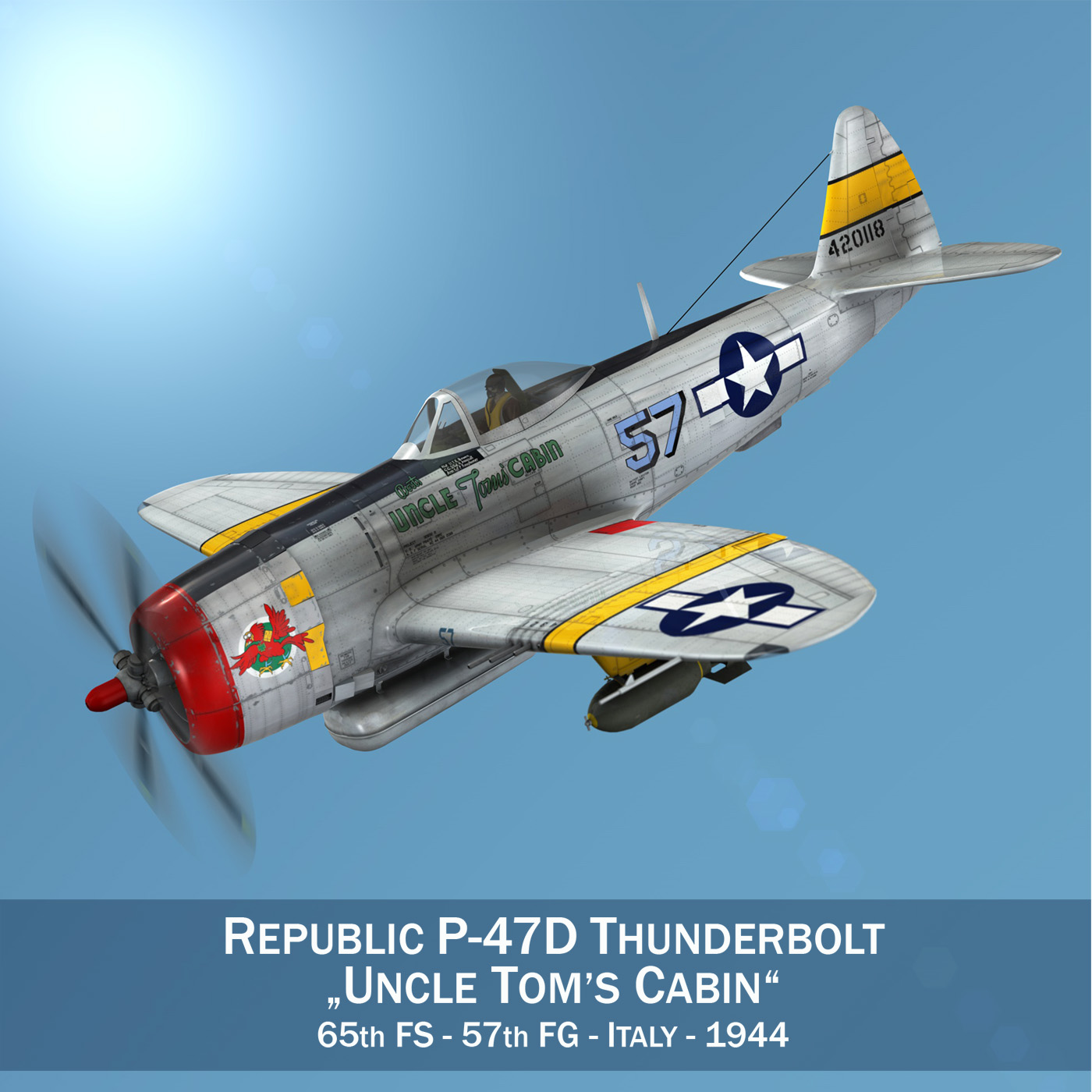 republika p-47d pērkons - tēvocis salons 3d modelis 3ds c4d fbx lwo lws objekts 266145