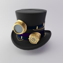 Steampunk Hat 3d model low poly