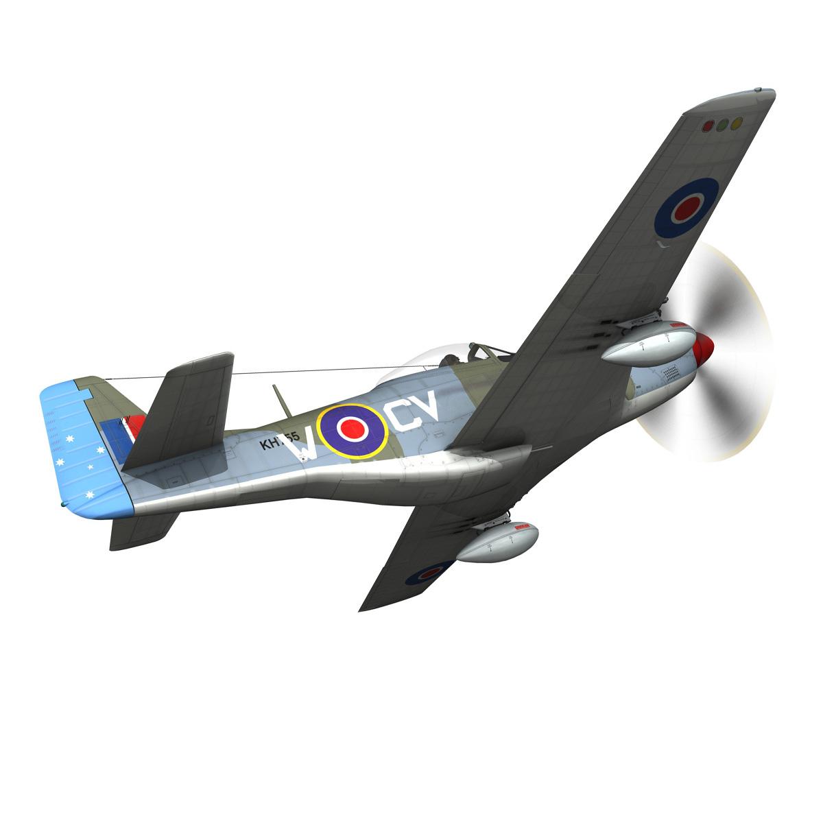 north american p-51k mustang mk.iv – anita – raaf 3d model fbx lwo lw lws obj c4d 266219