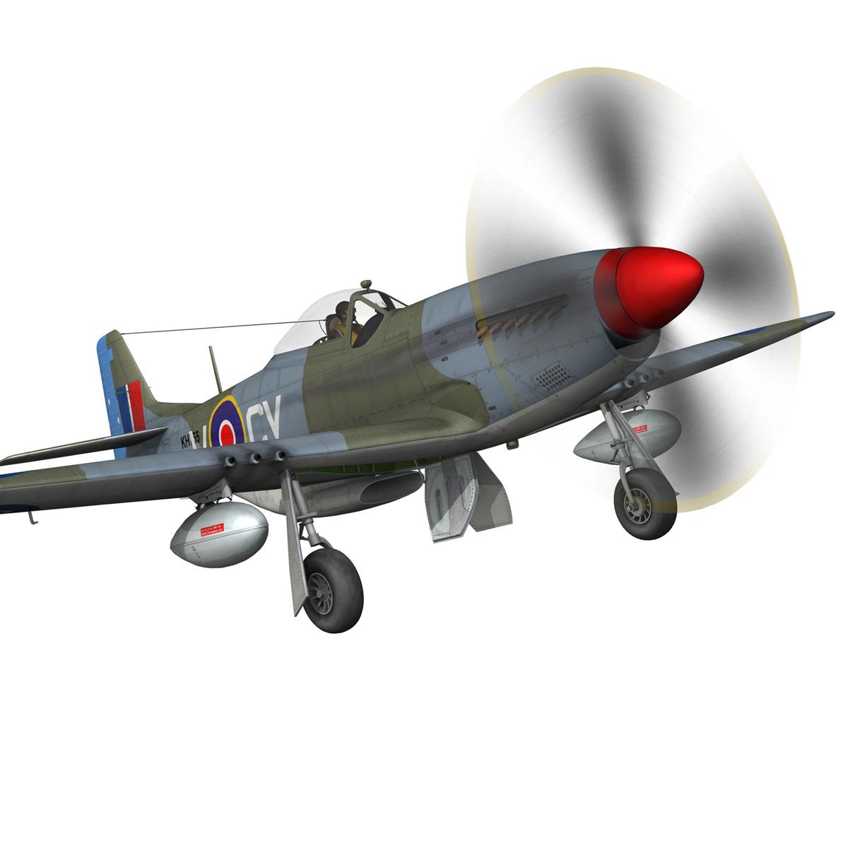 north american p-51k mustang mk.iv – anita – raaf 3d model fbx lwo lw lws obj c4d 266221