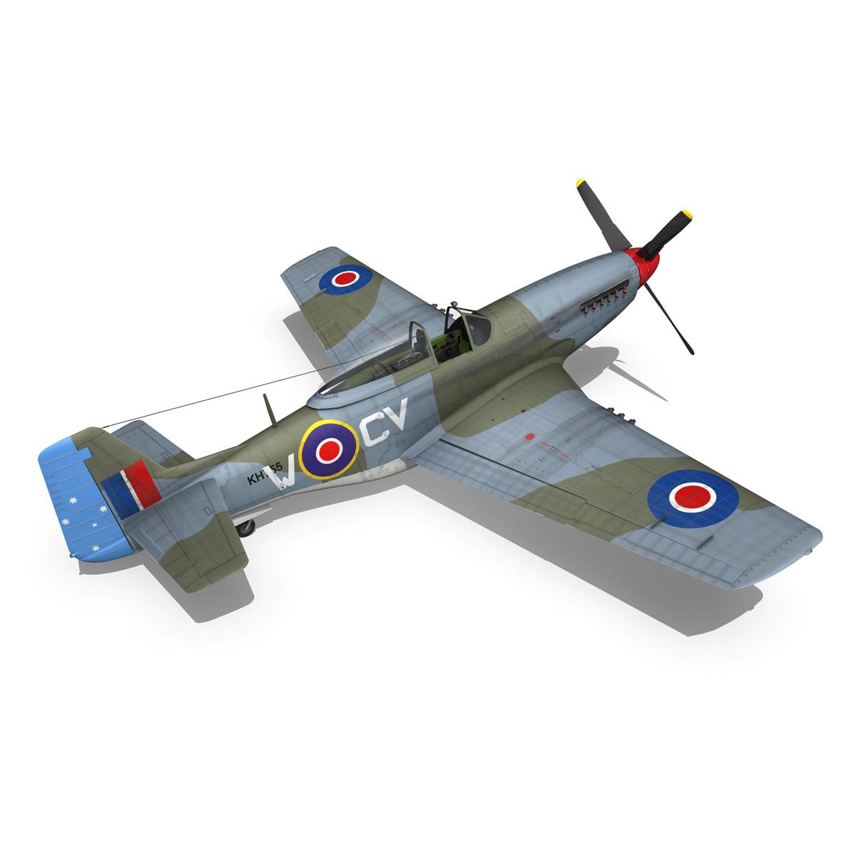 north american p-51k mustang mk.iv – anita – raaf 3d model fbx lwo lw lws obj c4d 266226