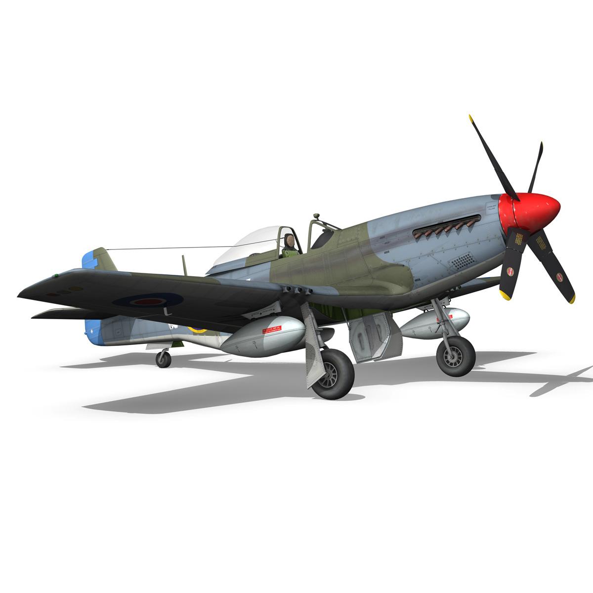 north american p-51k mustang mk.iv – anita – raaf 3d model fbx lwo lw lws obj c4d 266227