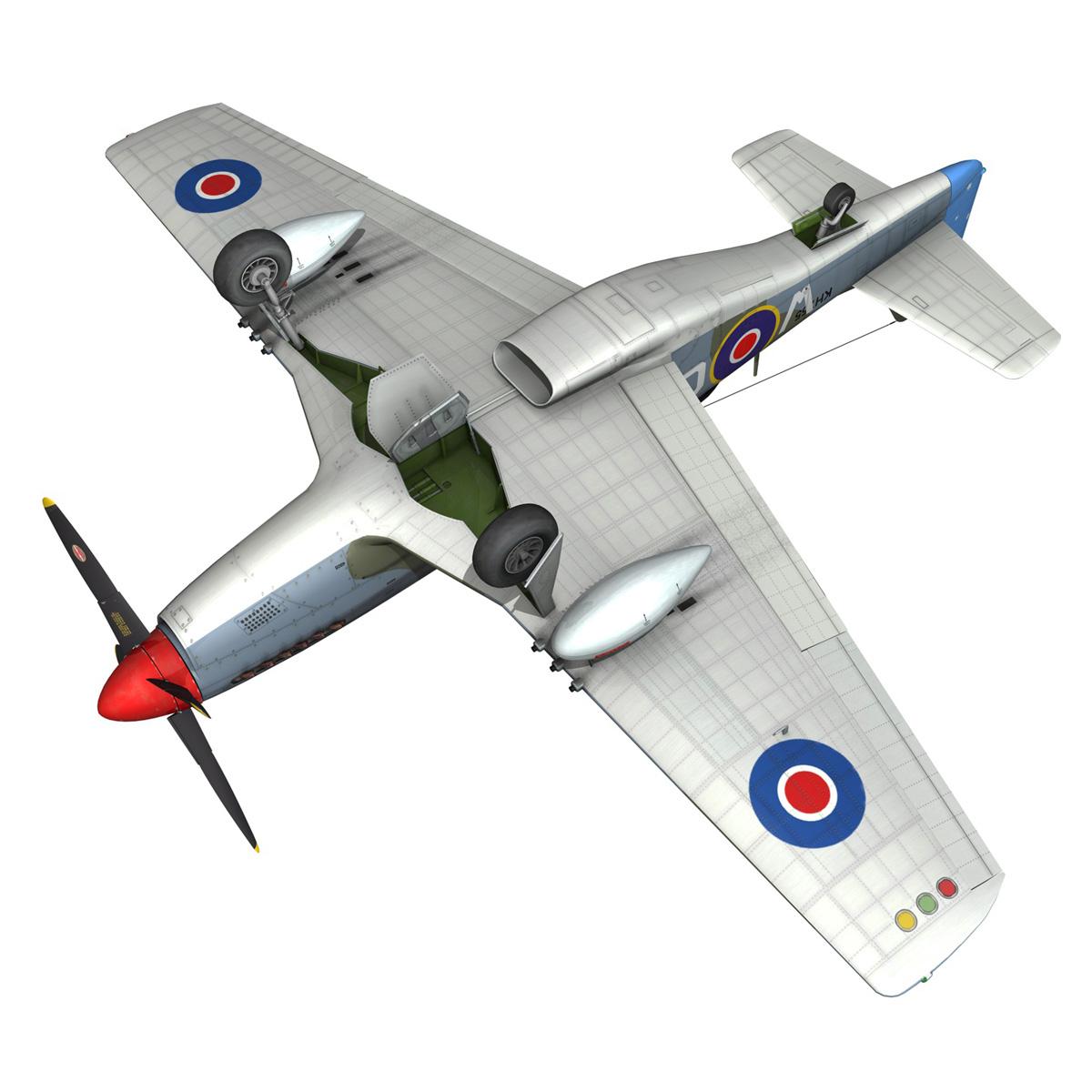 north american p-51k mustang mk.iv – anita – raaf 3d model fbx lwo lw lws obj c4d 266229