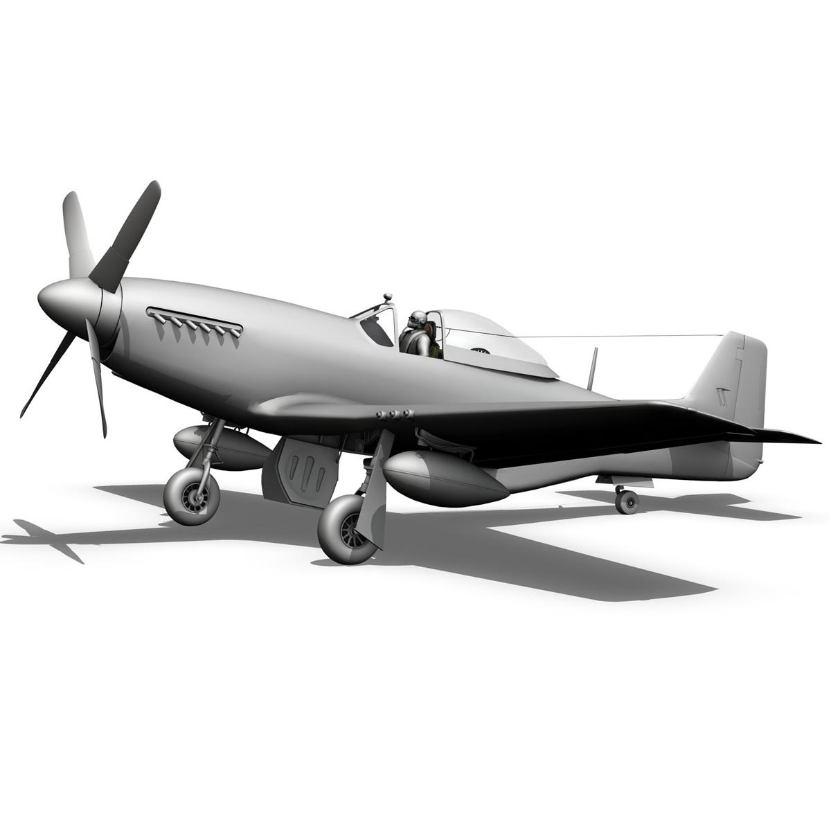 north american p-51k mustang mk.iv – anita – raaf 3d model fbx lwo lw lws obj c4d 266230