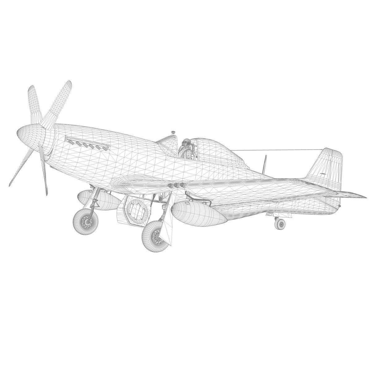 north american p-51k mustang mk.iv – anita – raaf 3d model fbx lwo lw lws obj c4d 266231