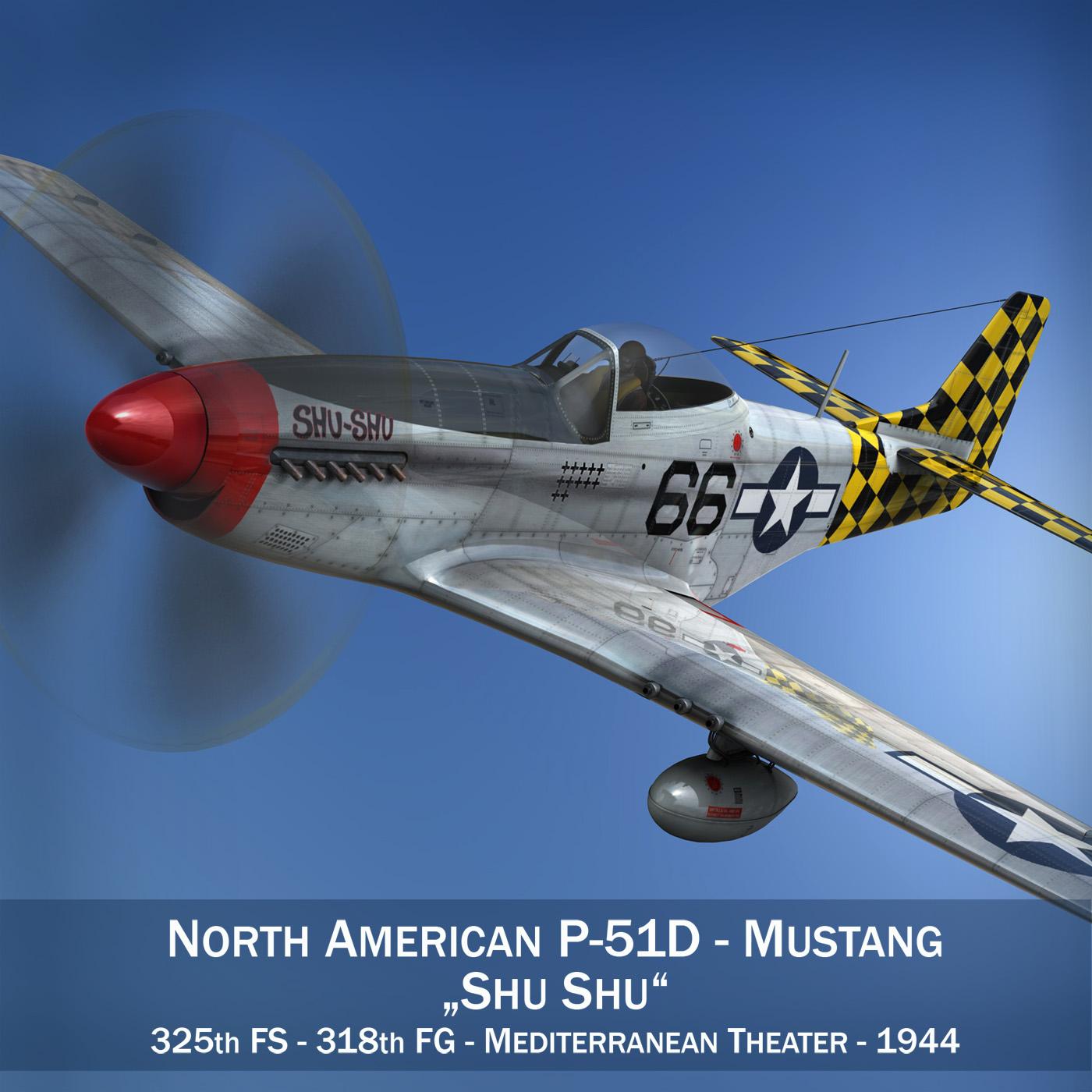 north american p-51d mustang – shu shu 3d model fbx lwo lw lws obj c4d 266237