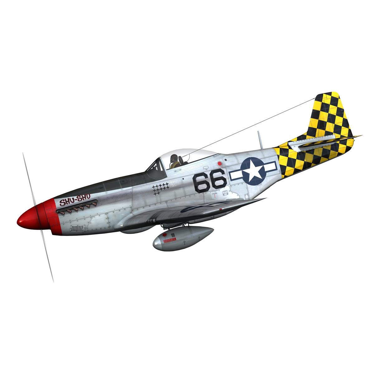 north american p-51d mustang – shu shu 3d model fbx lwo lw lws obj c4d 266238