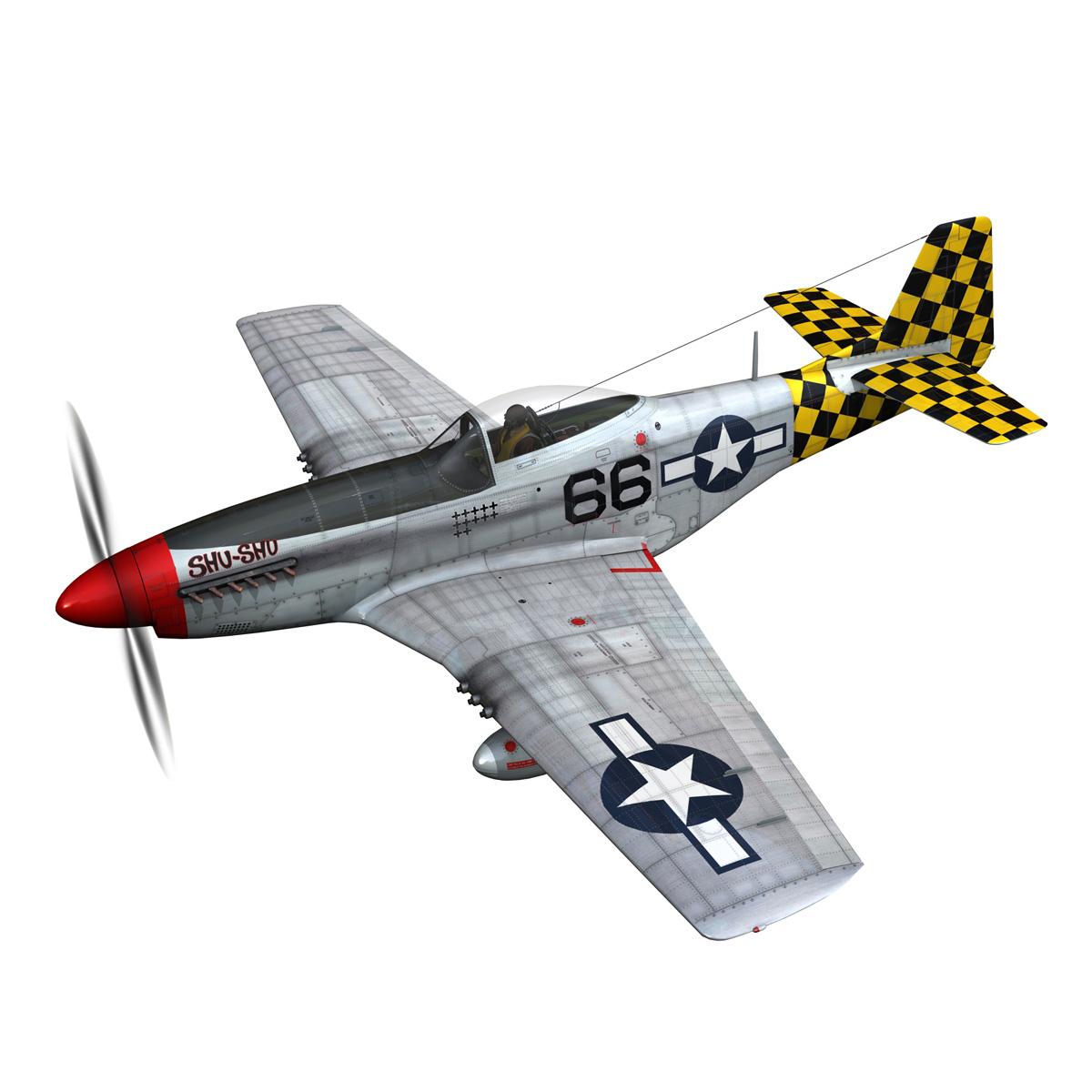 north american p-51d mustang – shu shu 3d model fbx lwo lw lws obj c4d 266239