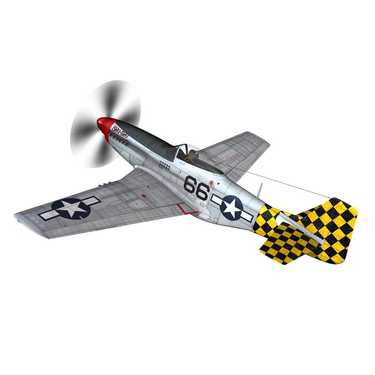 north american p-51d mustang – shu shu 3d model fbx lwo lw lws obj c4d 266241