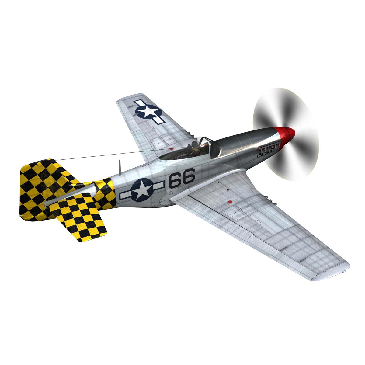 north american p-51d mustang – shu shu 3d model fbx lwo lw lws obj c4d 266242