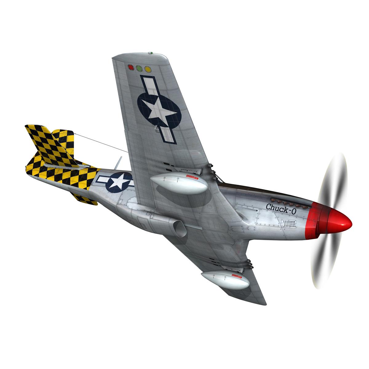 north american p-51d mustang – shu shu 3d model fbx lwo lw lws obj c4d 266243
