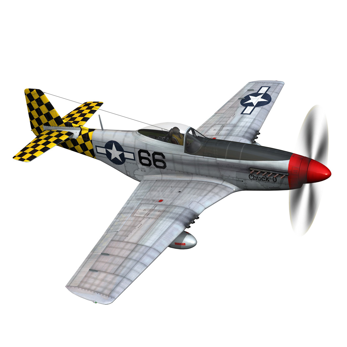 north american p-51d mustang – shu shu 3d model fbx lwo lw lws obj c4d 266244