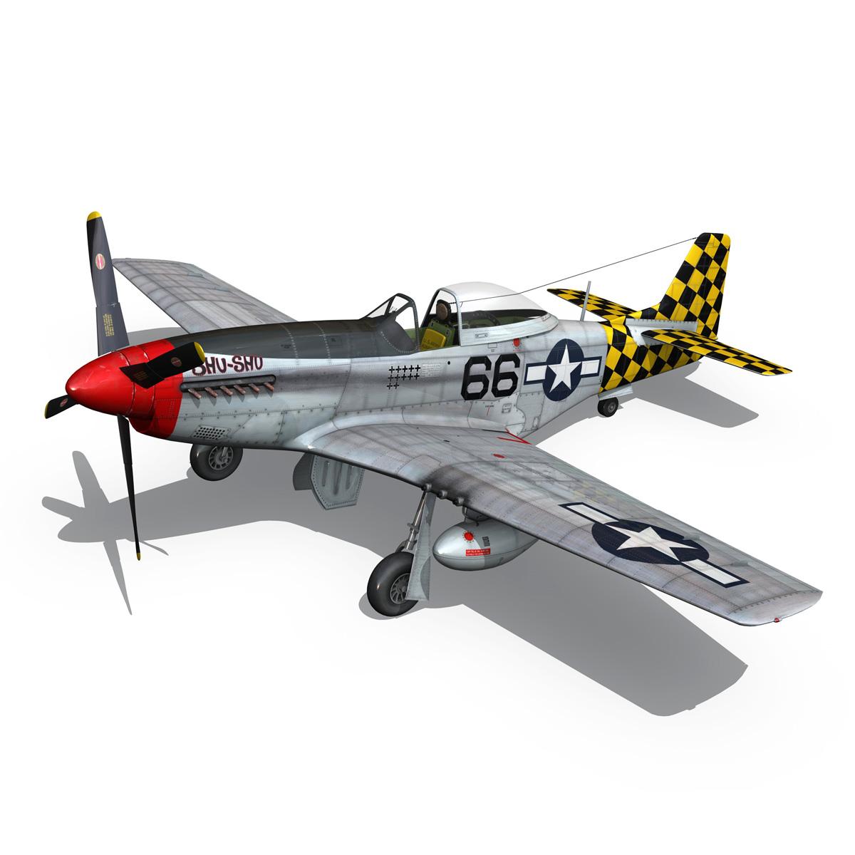 north american p-51d mustang – shu shu 3d model fbx lwo lw lws obj c4d 266245
