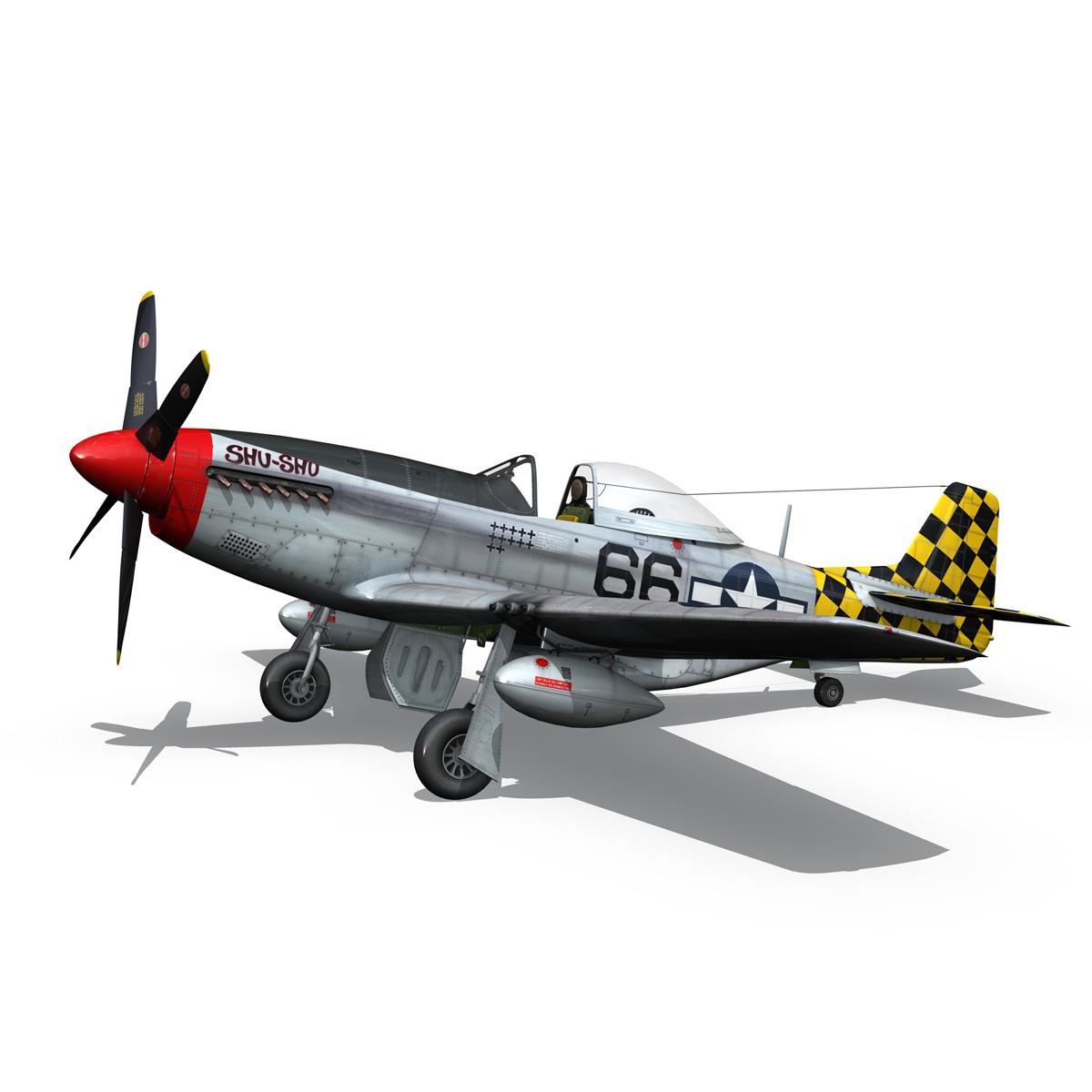 north american p-51d mustang – shu shu 3d model fbx lwo lw lws obj c4d 266246