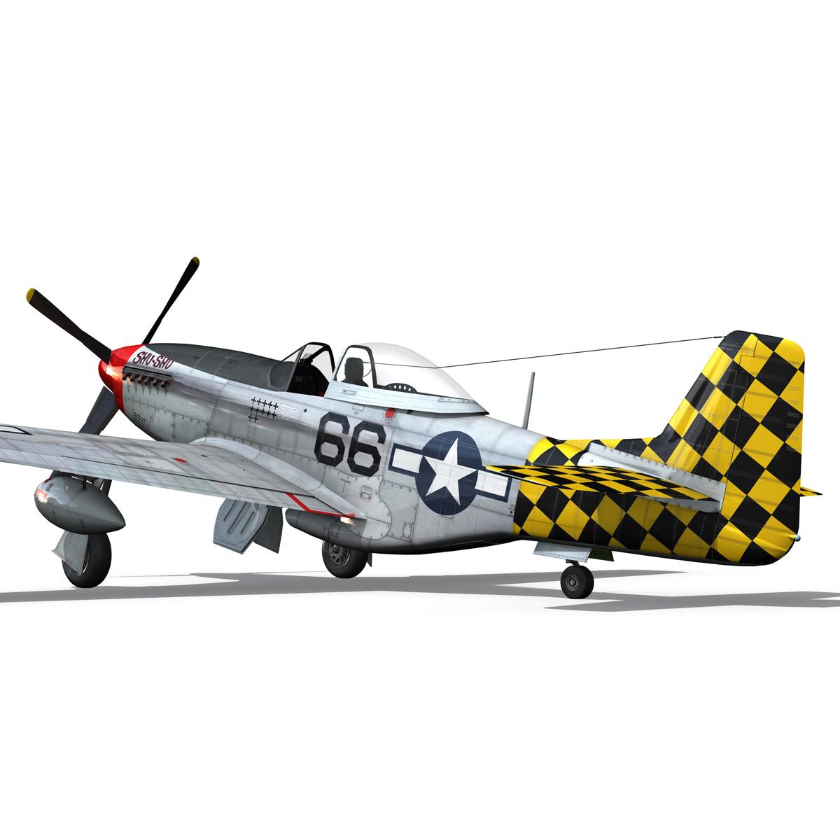 north american p-51d mustang – shu shu 3d model fbx lwo lw lws obj c4d 266247