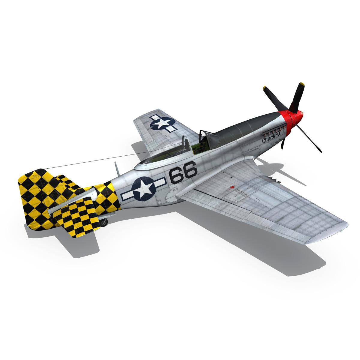 north american p-51d mustang – shu shu 3d model fbx lwo lw lws obj c4d 266248