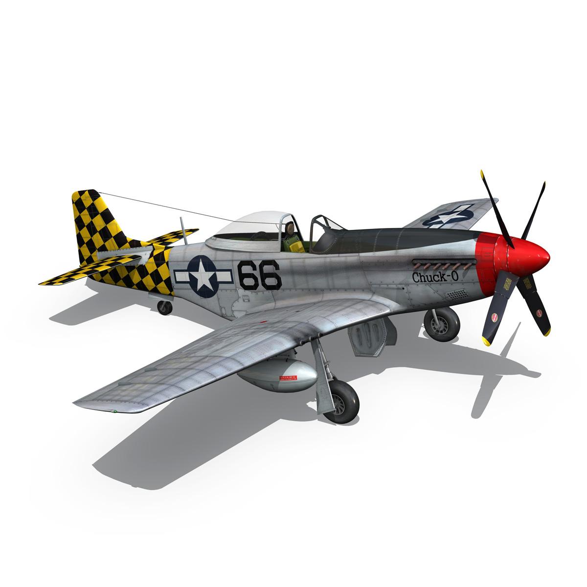 north american p-51d mustang – shu shu 3d model fbx lwo lw lws obj c4d 266249