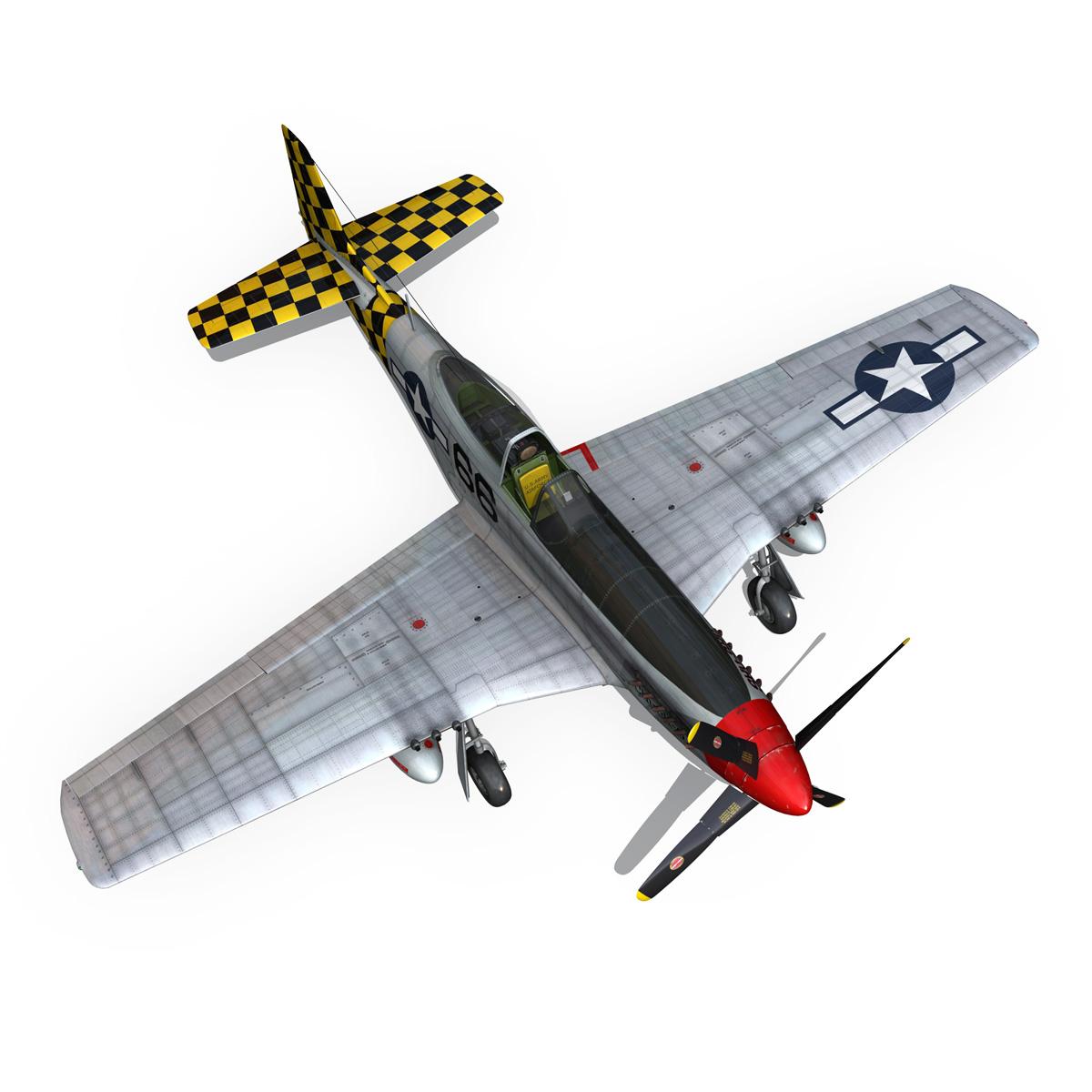 north american p-51d mustang – shu shu 3d model fbx lwo lw lws obj c4d 266250