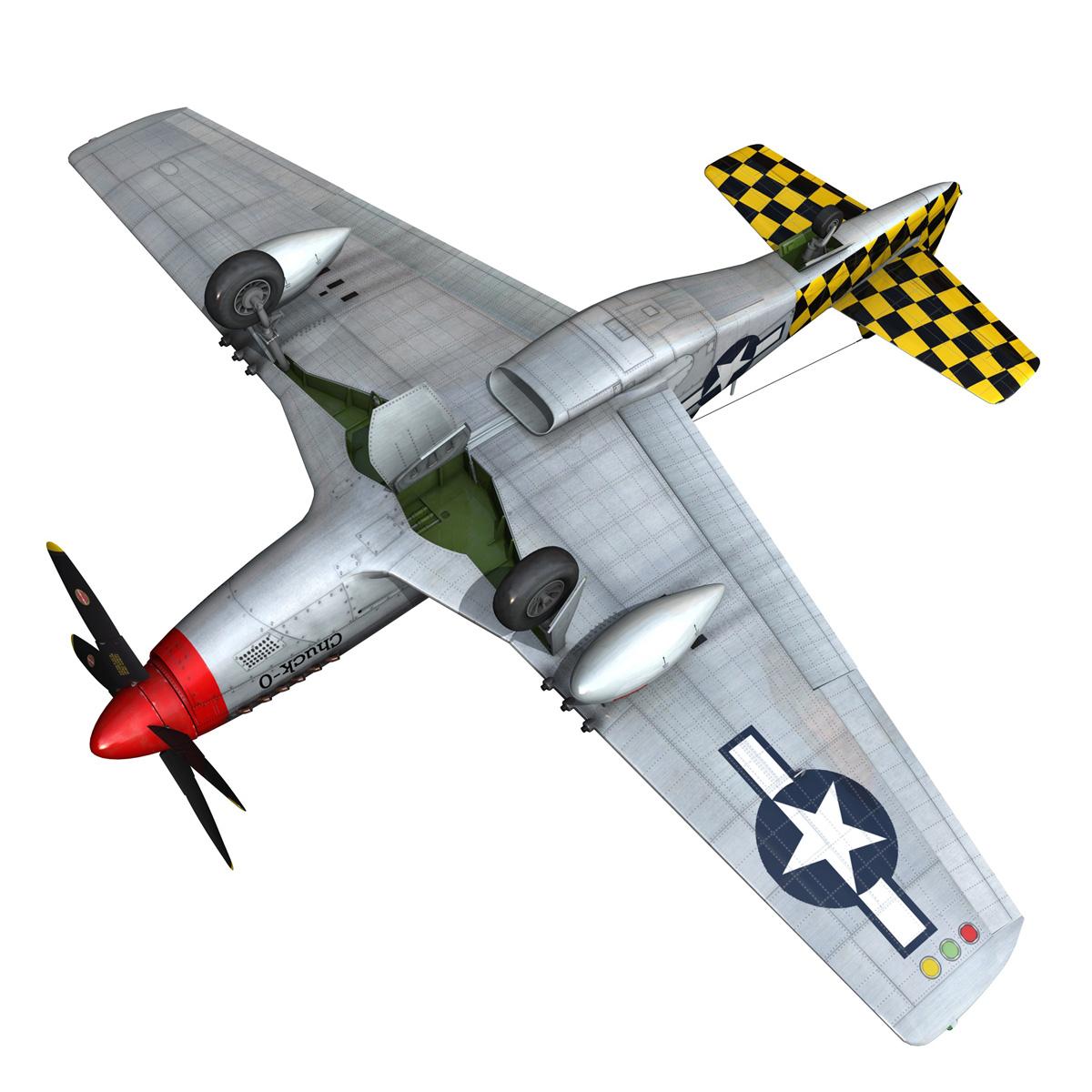 north american p-51d mustang – shu shu 3d model fbx lwo lw lws obj c4d 266252