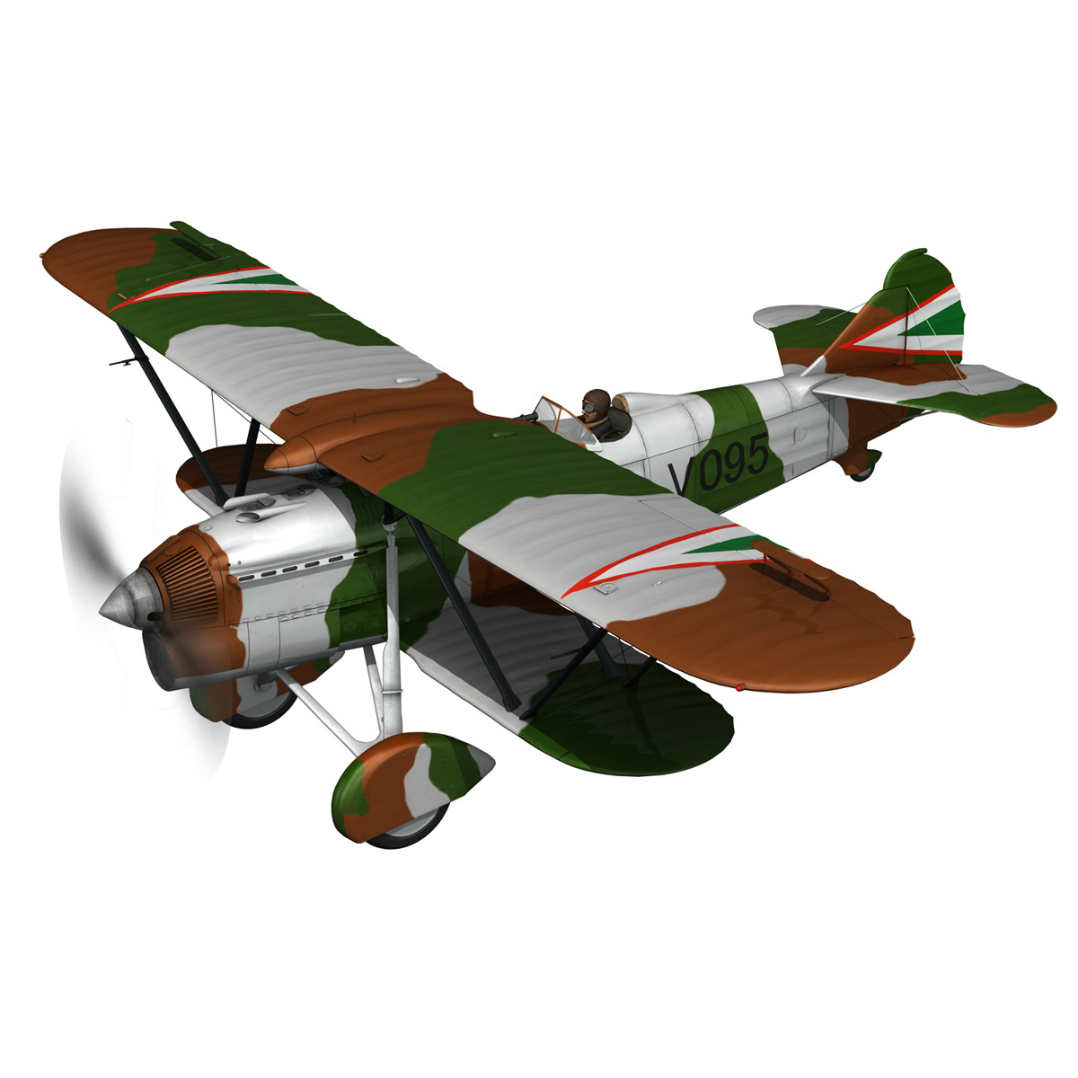 fiat cr.32 – hungarian royal air force – v095 3d model fbx lwo lw lws obj c4d 266273
