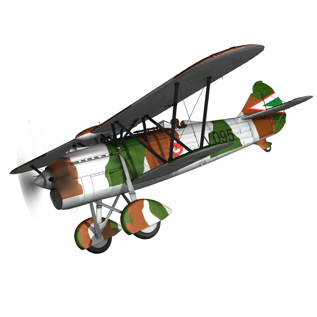 fiat cr.32 – hungarian royal air force – v095 3d model fbx lwo lw lws obj c4d 266274