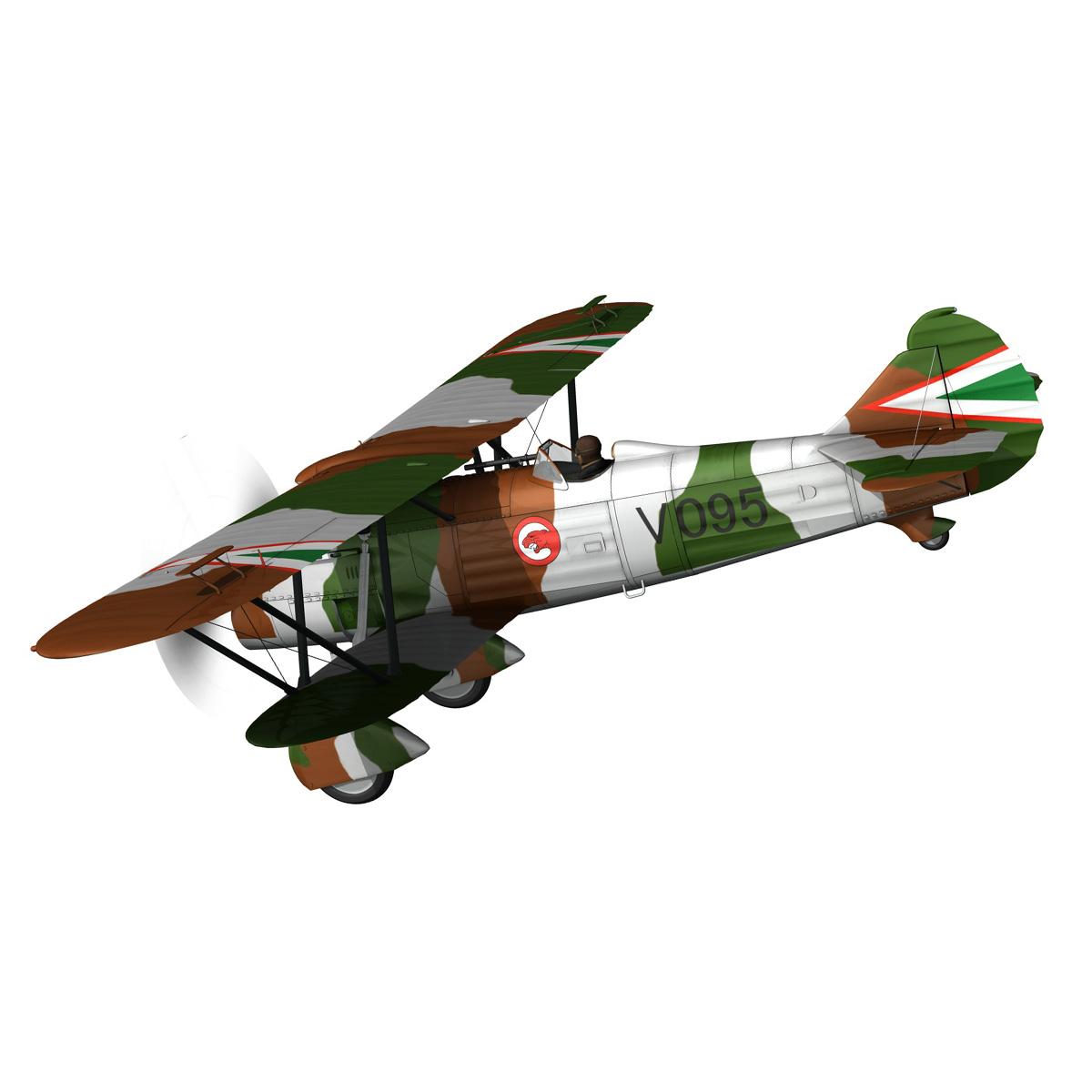 fiat cr.32 – hungarian royal air force – v095 3d model fbx lwo lw lws obj c4d 266275