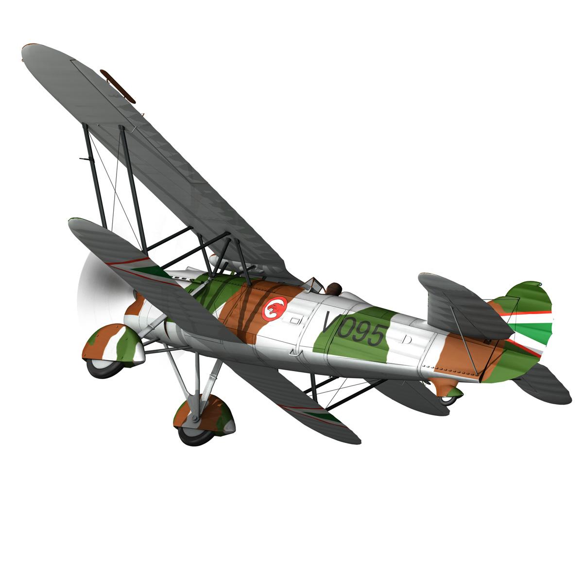fiat cr.32 – hungarian royal air force – v095 3d model fbx lwo lw lws obj c4d 266276