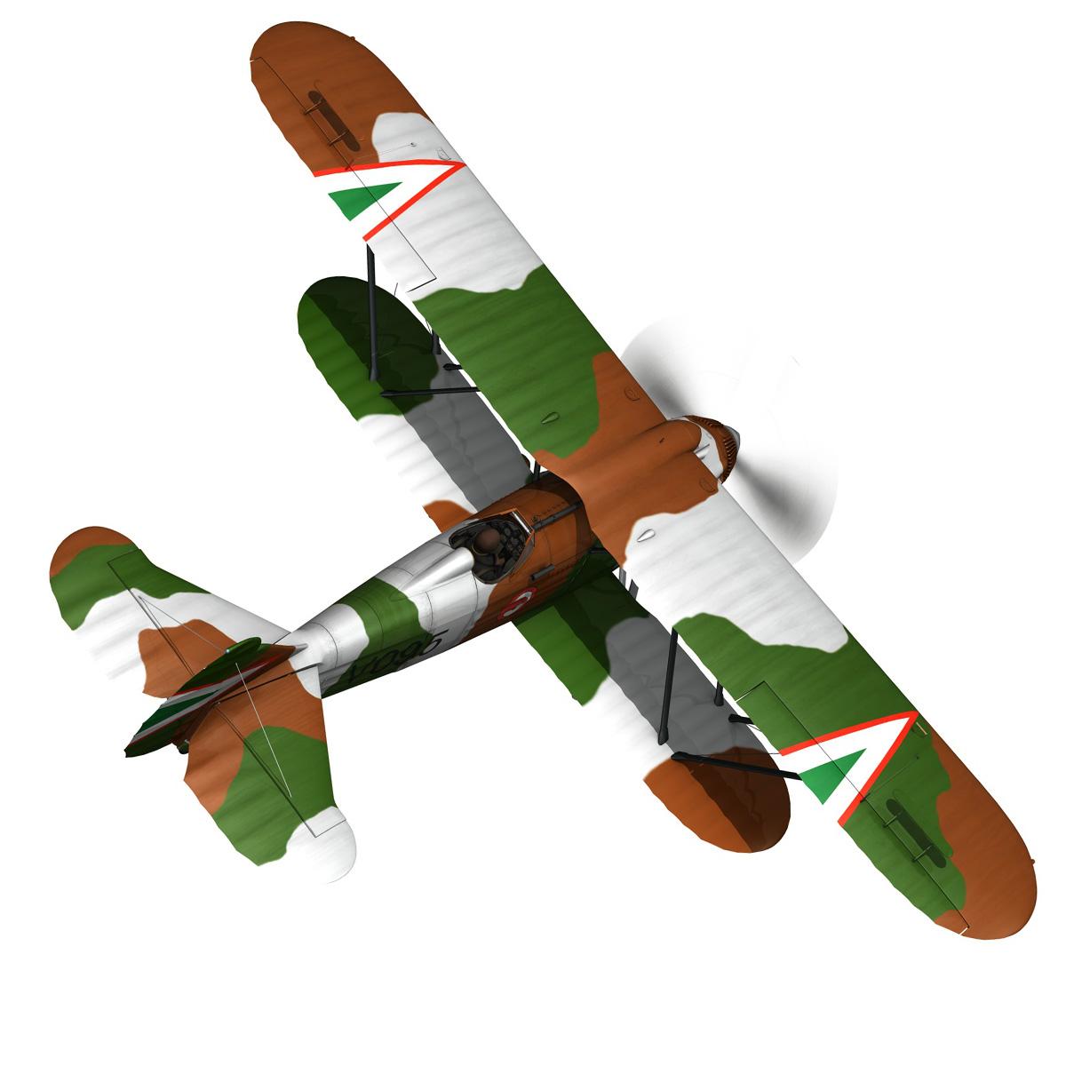 fiat cr.32 – hungarian royal air force – v095 3d model fbx lwo lw lws obj c4d 266277