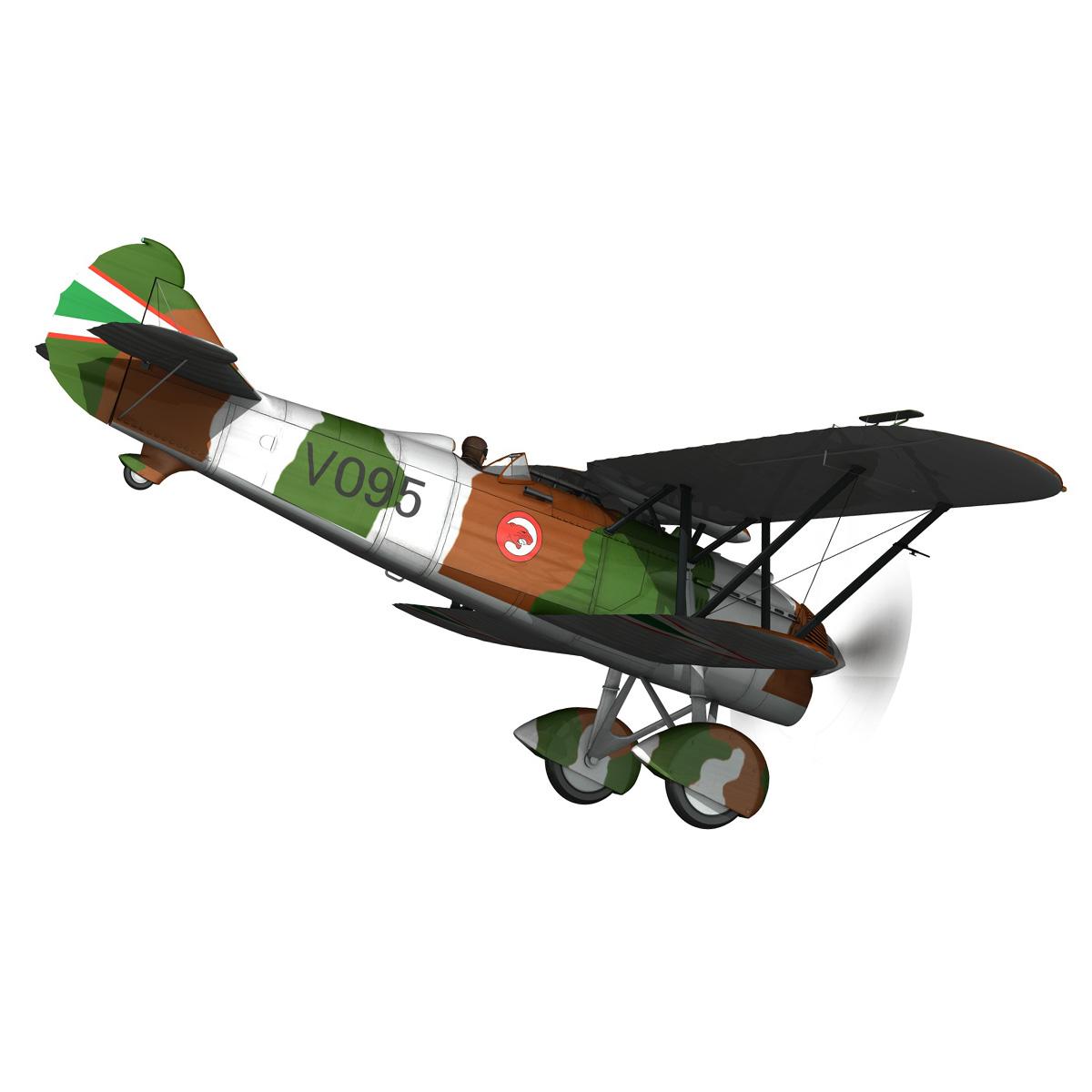 fiat cr.32 – hungarian royal air force – v095 3d model fbx lwo lw lws obj c4d 266278