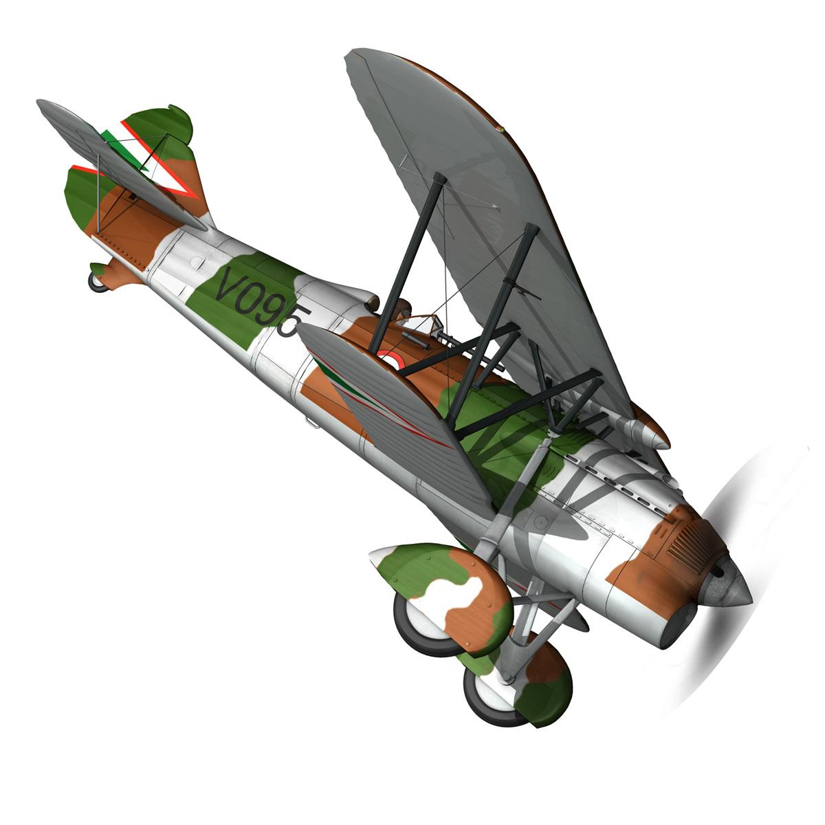 fiat cr.32 – hungarian royal air force – v095 3d model fbx lwo lw lws obj c4d 266279