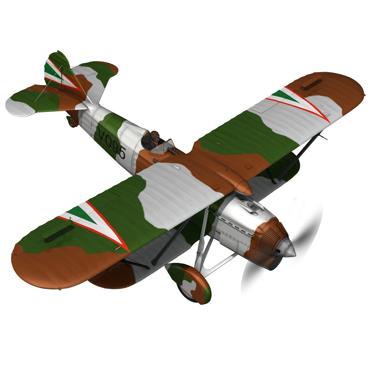 fiat cr.32 – hungarian royal air force – v095 3d model fbx lwo lw lws obj c4d 266280