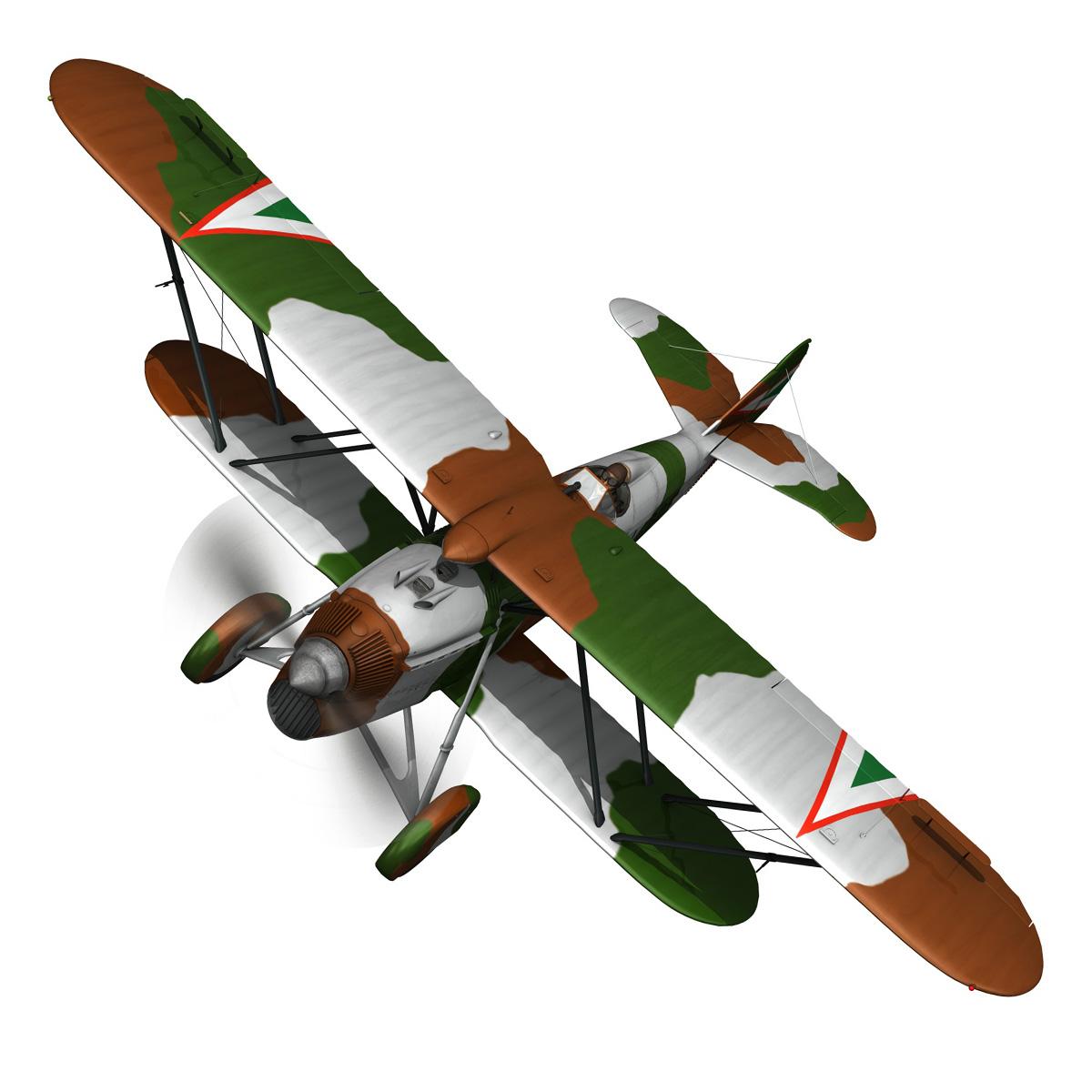 fiat cr.32 – hungarian royal air force – v095 3d model fbx lwo lw lws obj c4d 266281