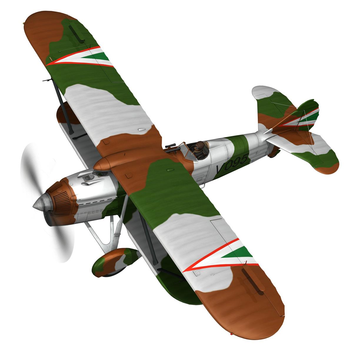 fiat cr.32 – hungarian royal air force – v095 3d model fbx lwo lw lws obj c4d 266282