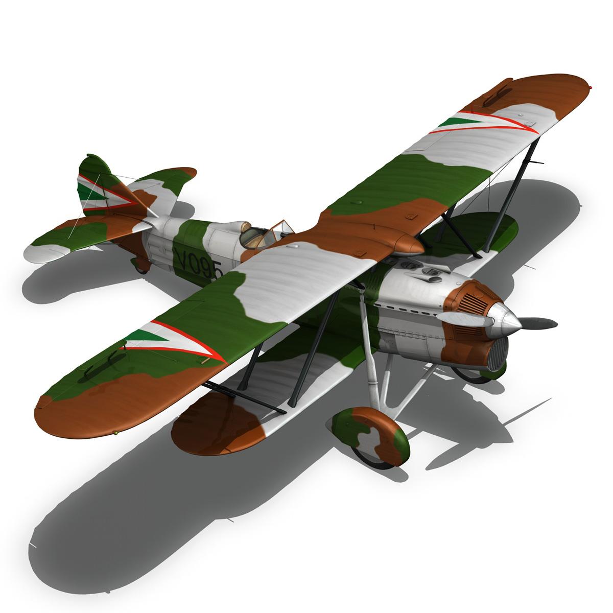 fiat cr.32 – hungarian royal air force – v095 3d model fbx lwo lw lws obj c4d 266283