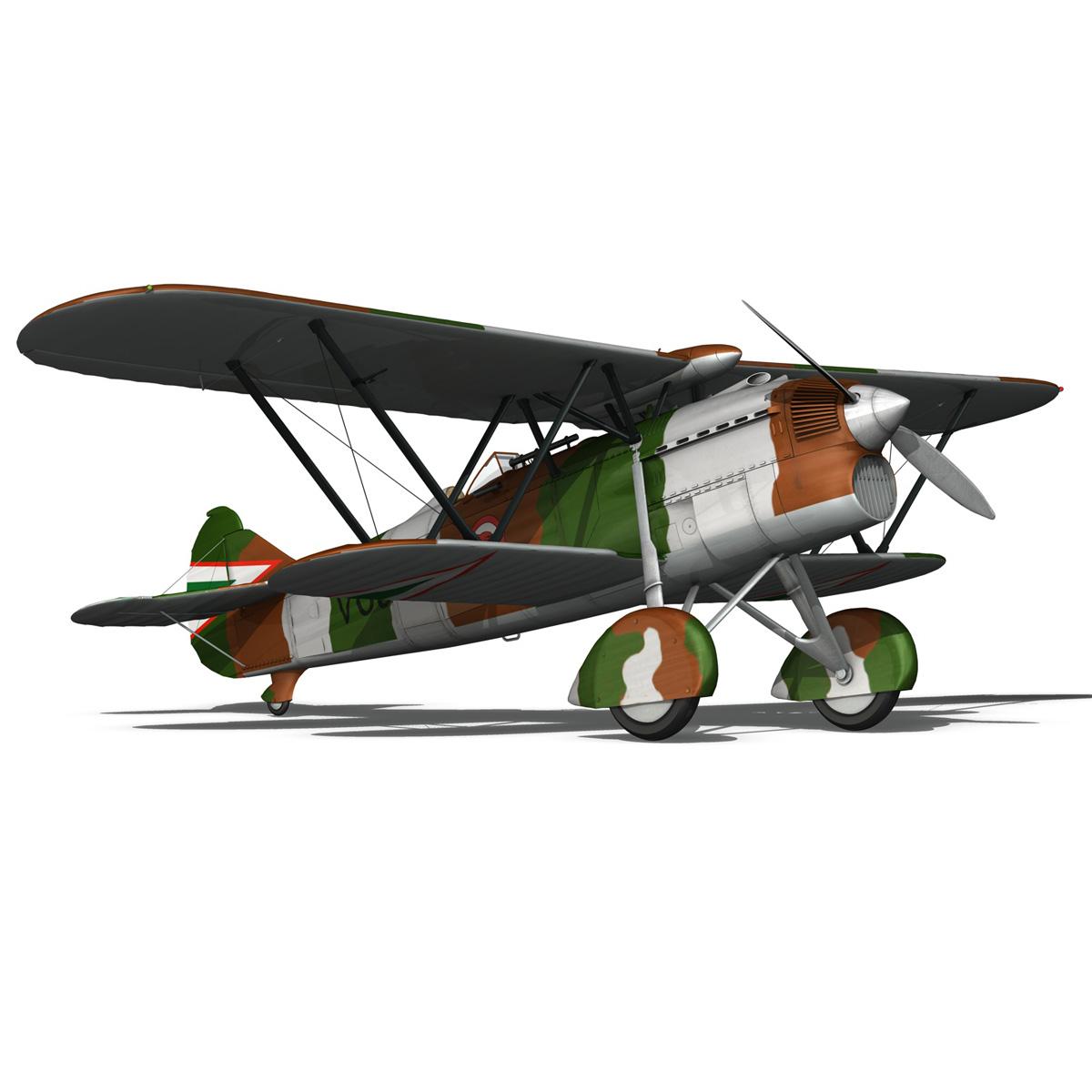 fiat cr.32 – hungarian royal air force – v095 3d model fbx lwo lw lws obj c4d 266284
