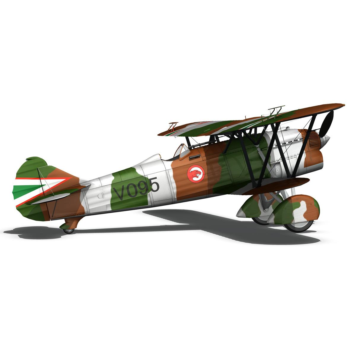 fiat cr.32 – hungarian royal air force – v095 3d model fbx lwo lw lws obj c4d 266285