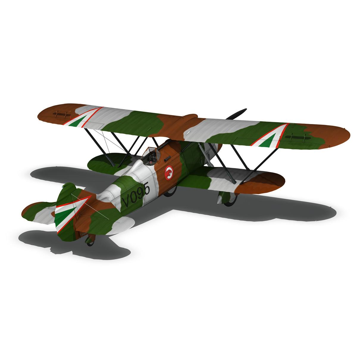 fiat cr.32 – hungarian royal air force – v095 3d model fbx lwo lw lws obj c4d 266286