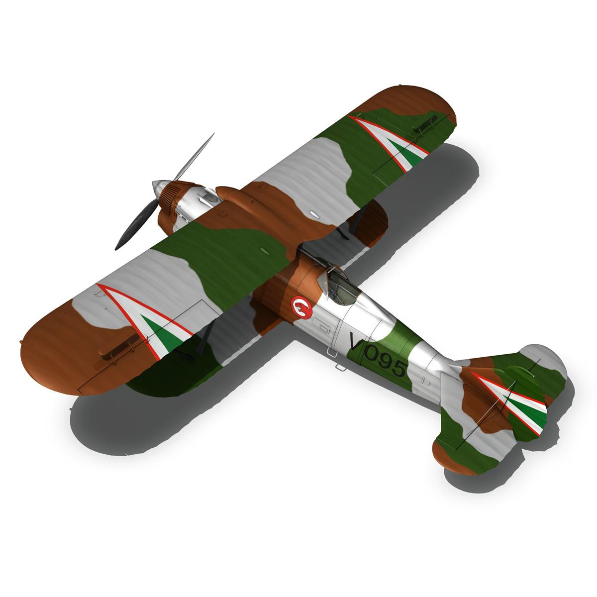 fiat cr.32 – hungarian royal air force – v095 3d model fbx lwo lw lws obj c4d 266287