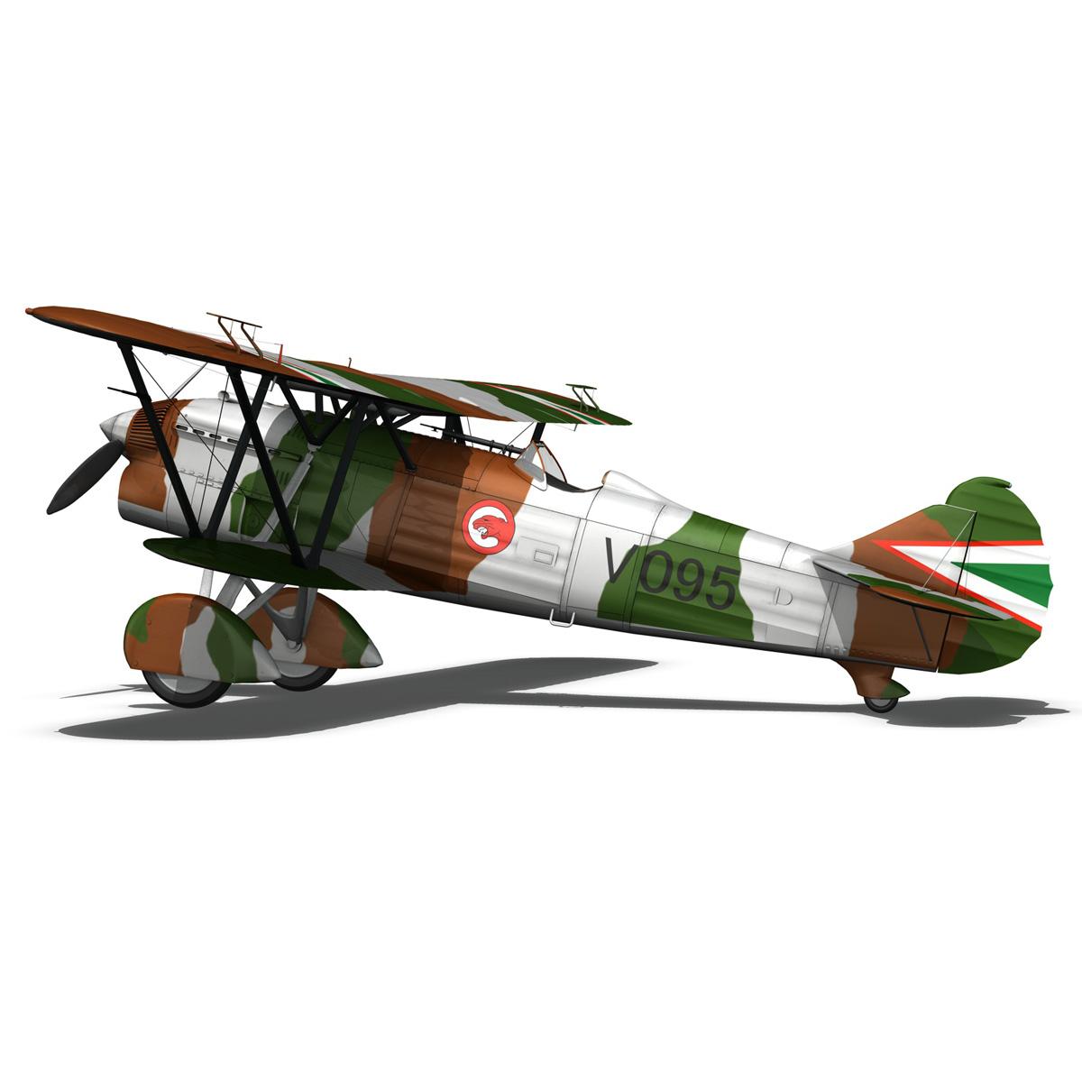 fiat cr.32 – hungarian royal air force – v095 3d model fbx lwo lw lws obj c4d 266288