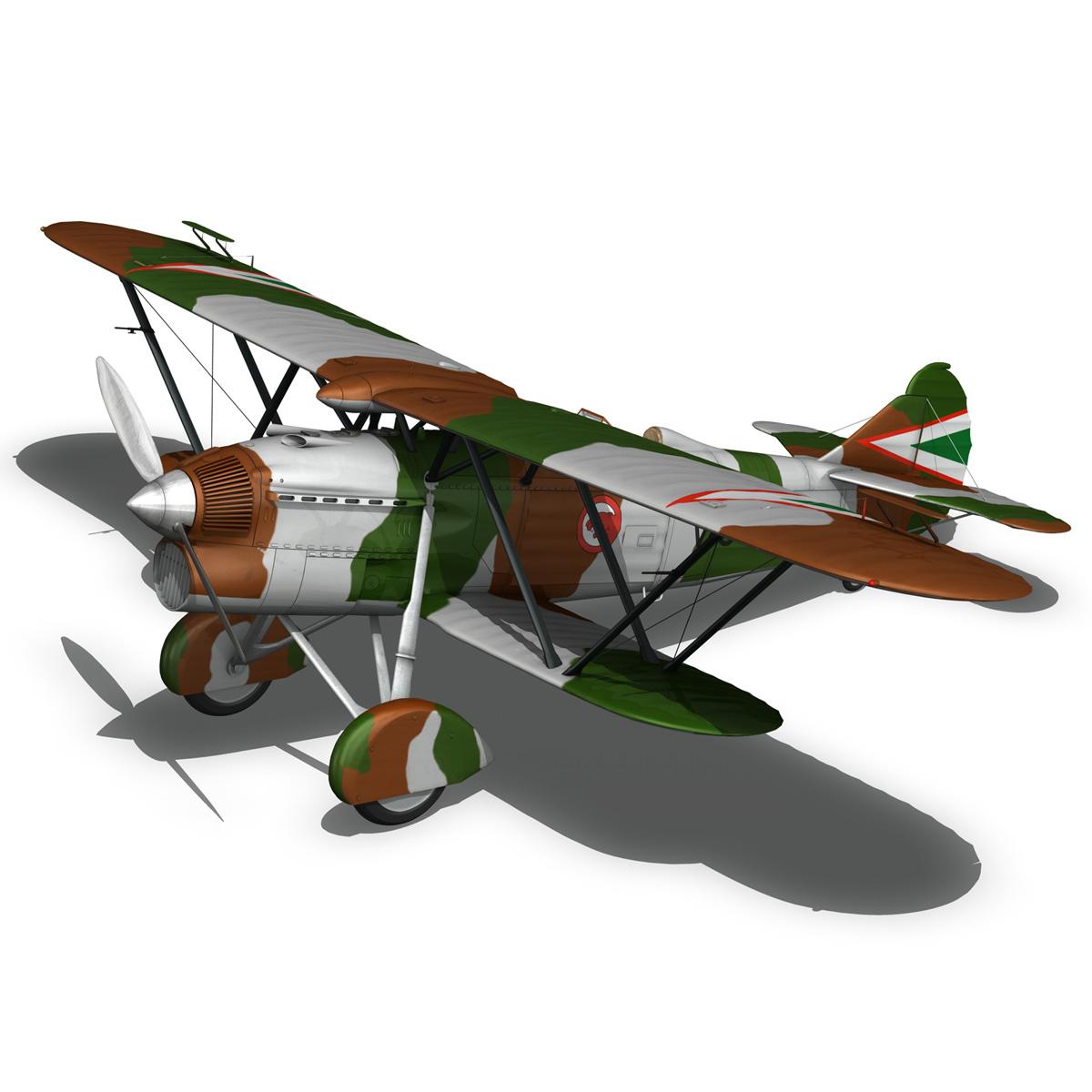 fiat cr.32 – hungarian royal air force – v095 3d model fbx lwo lw lws obj c4d 266289