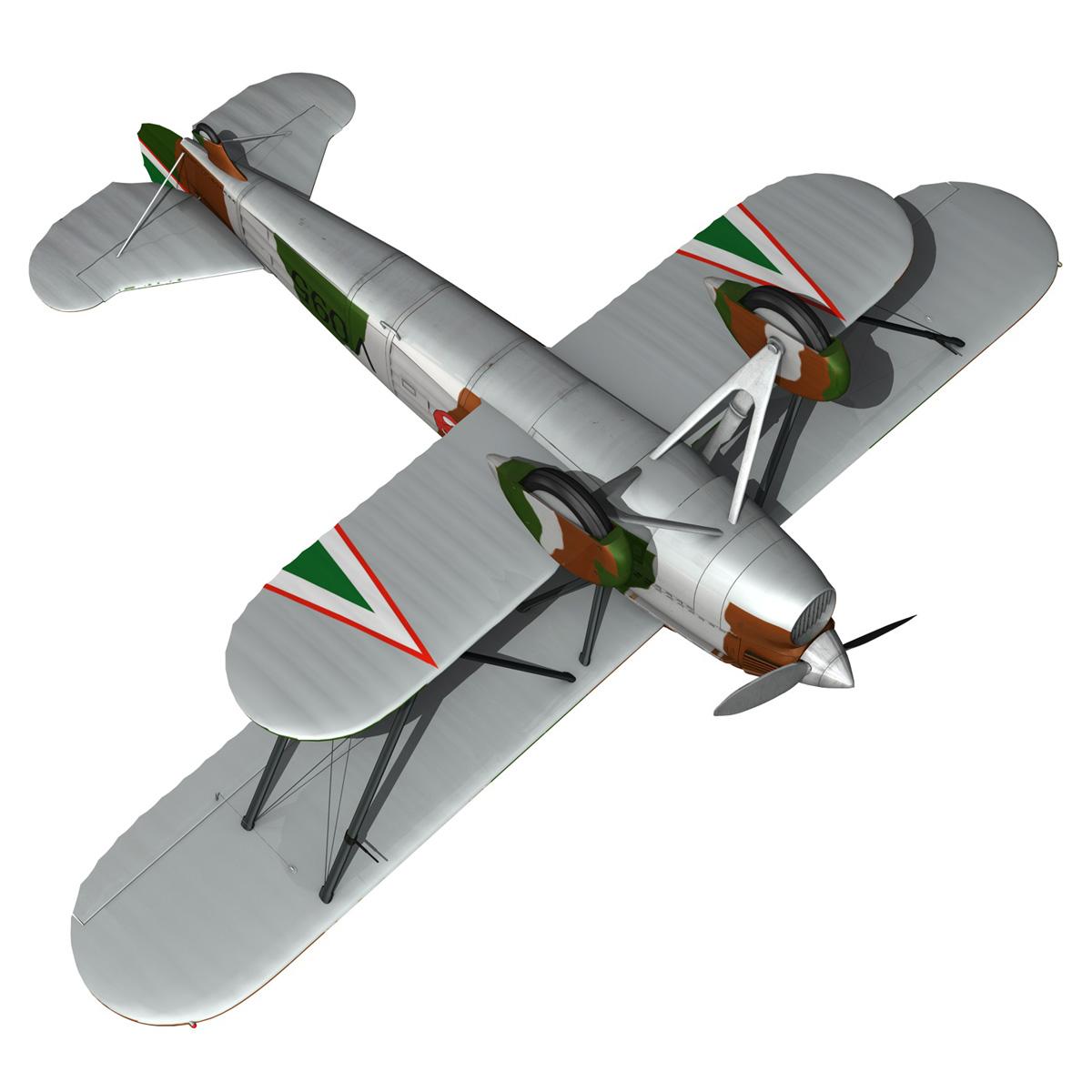 fiat cr.32 – hungarian royal air force – v095 3d model fbx lwo lw lws obj c4d 266290