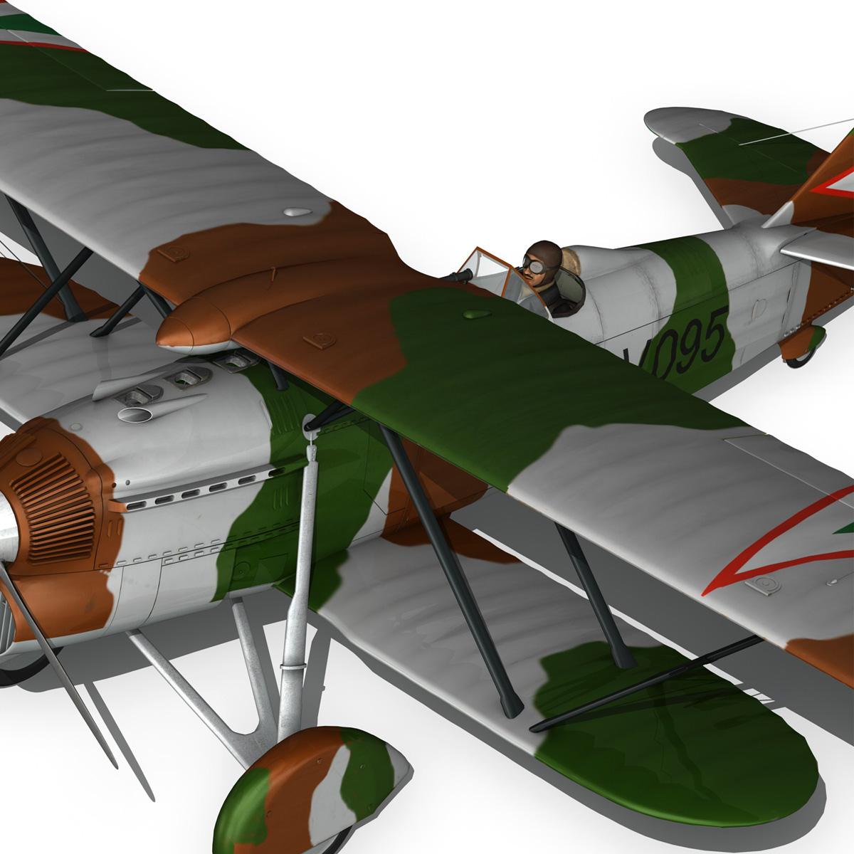 fiat cr.32 – hungarian royal air force – v095 3d model fbx lwo lw lws obj c4d 266291