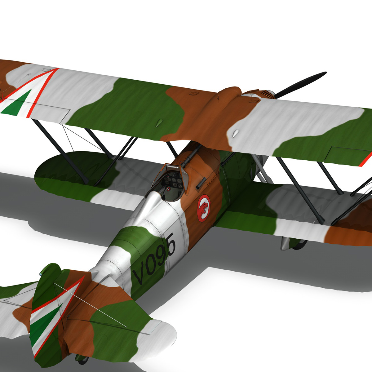 fiat cr.32 – hungarian royal air force – v095 3d model fbx lwo lw lws obj c4d 266292