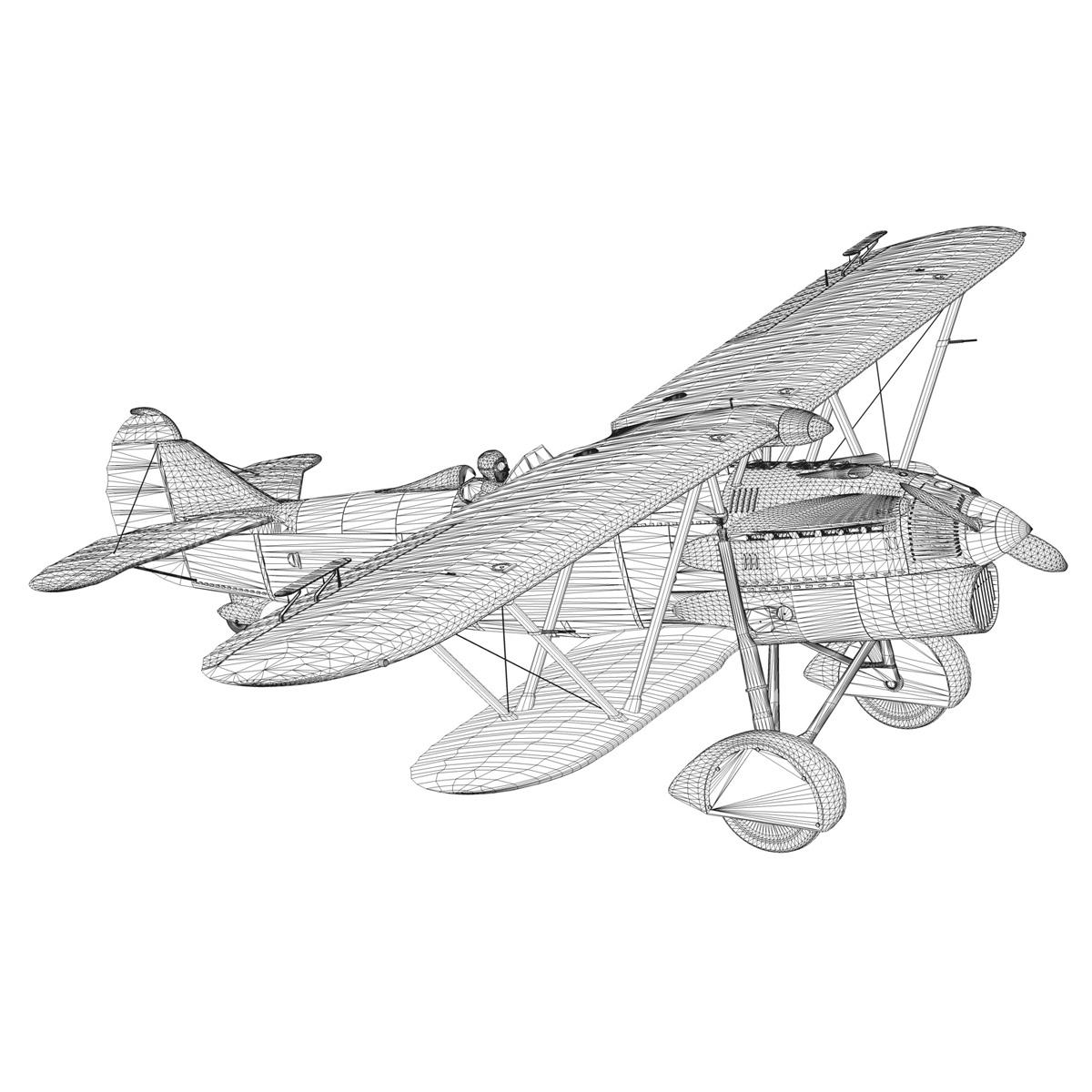 fiat cr.32 – hungarian royal air force – v095 3d model fbx lwo lw lws obj c4d 266294