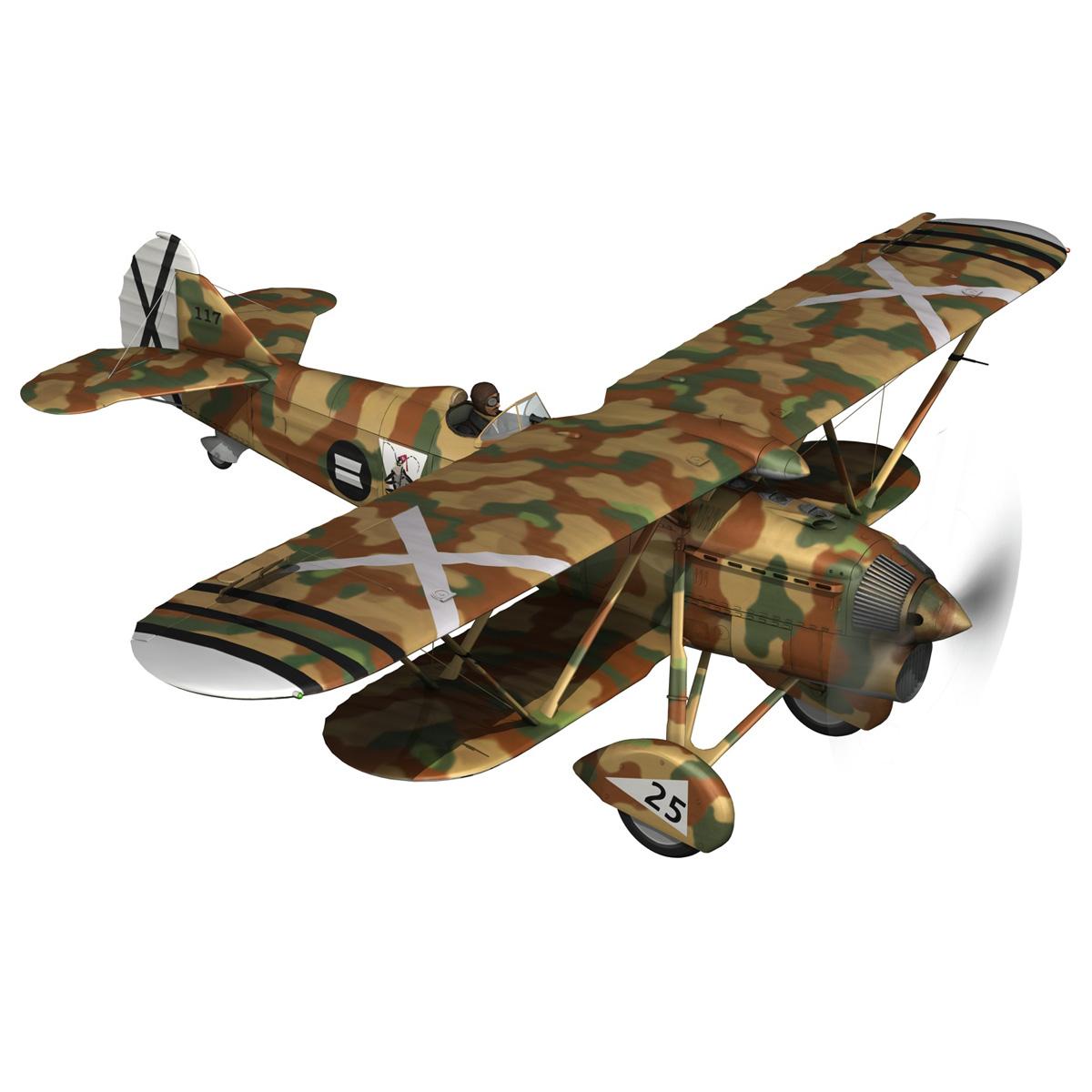fiat cr.32 – italy air force – xvi gruppo 3d model fbx lwo lw lws obj c4d 266302