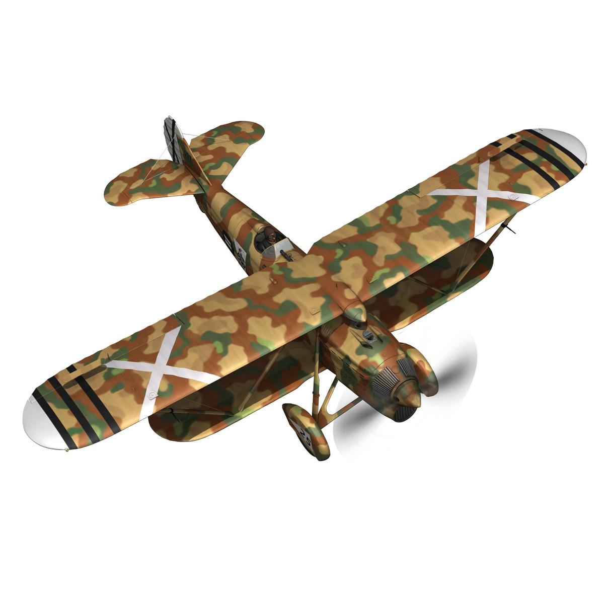 fiat cr.32 – italy air force – xvi gruppo 3d model fbx lwo lw lws obj c4d 266303