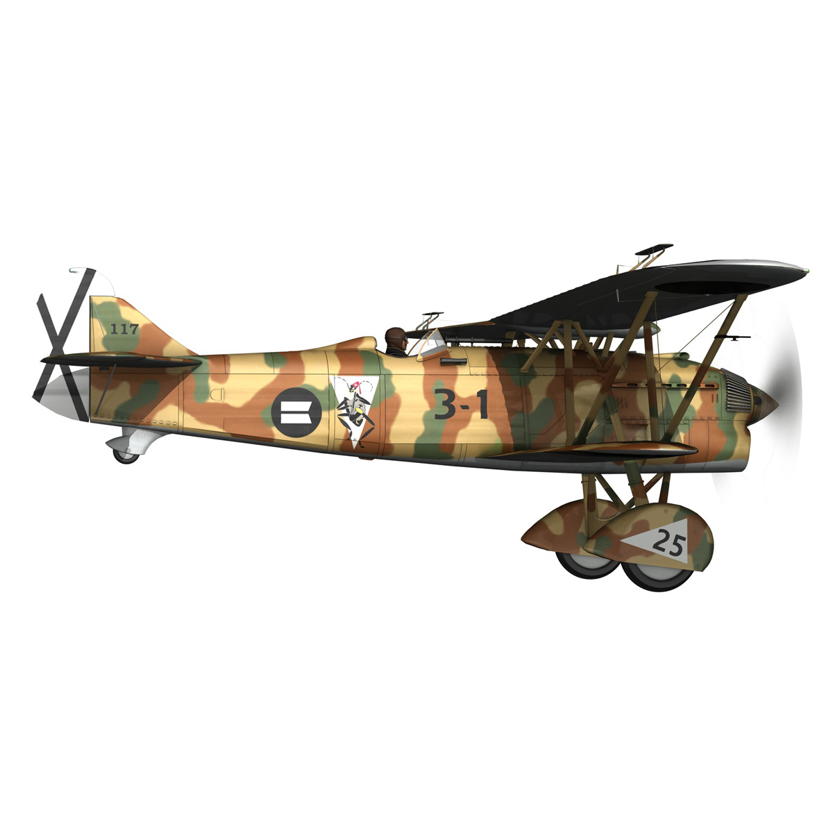 fiat cr.32 – italy air force – xvi gruppo 3d model fbx lwo lw lws obj c4d 266304